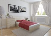 Двухспальная кровать Юнона прямоугольная 140-200